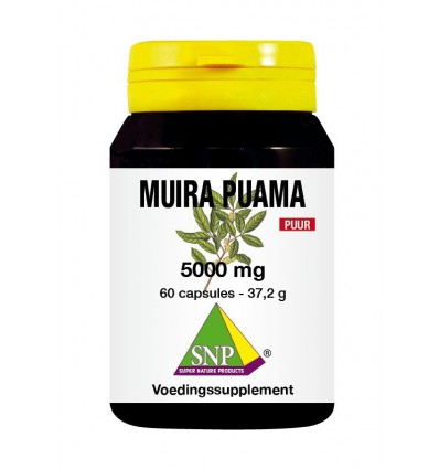 SNP Muira puama 5000 mg puur 60 capsules | € 25.26 | Superfoodstore.nl