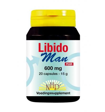 NHP Libido man 600 mg puur 20 capsules   € 28.97   Superfoodstore.nl
