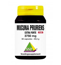 SNP Mucuna pruriens extra forte 3750 mg puur 60 capsules | € 34.09 | Superfoodstore.nl