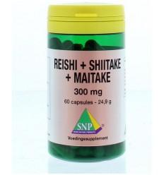 SNP Reishi shiitake maitake 300 mg 60 capsules   € 25.26   Superfoodstore.nl