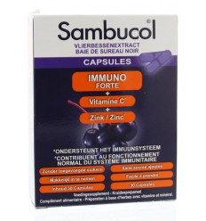 Sambucol Immuno forte 30 capsules | € 15.47 | Superfoodstore.nl