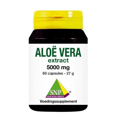 SNP Aloe vera 5000 mg puur 60 capsules | € 26.89 | Superfoodstore.nl