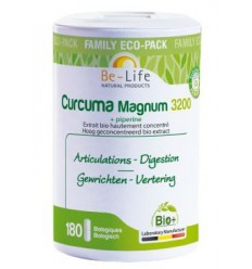 Be-Life Curcuma magnum 3200 & piperine bio 180 softgels | € 37.55 | Superfoodstore.nl
