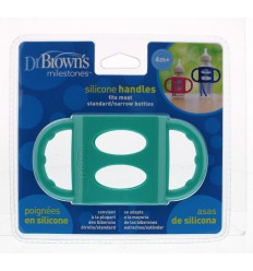 DR Brown's Siliconen handfles standaard turquoise | € 6.82 | Superfoodstore.nl