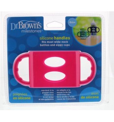 DR Brown's Siliconen handfles brede hals roze | € 7.81 | Superfoodstore.nl