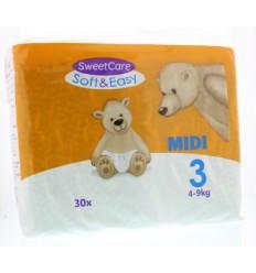 Sweetcare Luiers Soft & easy midi nr 3 4-9kg 30 stuks   € 5.57   Superfoodstore.nl