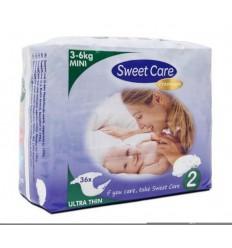 Sweetcare Premium mini maat 2 3-6 kg 36 stuks   € 7.12   Superfoodstore.nl