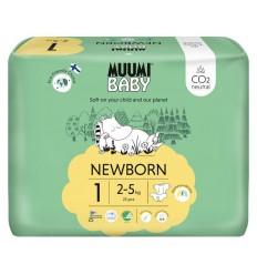 Muumi Baby Eco luiers maat 1 newborn 2-5 kg 25 stuks   € 8.53   Superfoodstore.nl