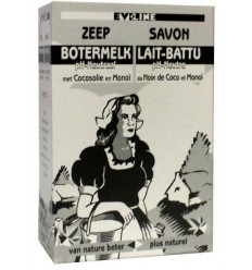 Evi Line Botermelk zeep kokos 100 gram | € 1.49 | Superfoodstore.nl