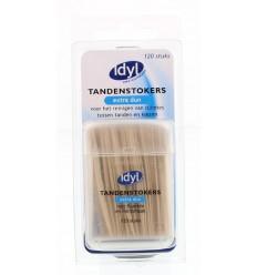Idyl Tandenstokers extra dun met fluoride en mintsmaak 120 stuks | € 1.71 | Superfoodstore.nl