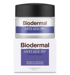 Biodermal Nachtcreme anti age 50+ 50 ml   € 20.41   Superfoodstore.nl