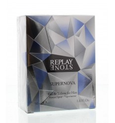Replay Stone supernova for him eau de toilette 50 ml | € 35.49 | Superfoodstore.nl