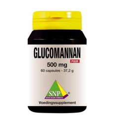 SNP Glucomannan 500 mg puur 60 capsules | € 16.95 | Superfoodstore.nl