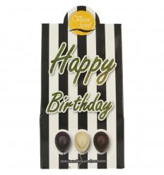 Voor Jou! Cadeau doos black & white happy birthday 100 gram   € 3.55   Superfoodstore.nl