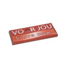 Voor Jou! Wensreep melkchocolade voor jou! lieve mam 70 gram | € 2.02 | Superfoodstore.nl