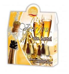 Voor Jou! Cadeau doos champagneflesjes van harte 100 gram | € 3.55 | Superfoodstore.nl