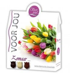 Voor Jou! Cadeau doos trendy bloemen zomaar 100 gram   € 3.55   Superfoodstore.nl