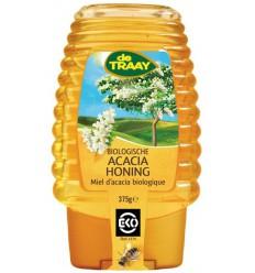 De Traay Acaciahoning knijpfles bio 375 gram | € 4.99 | Superfoodstore.nl