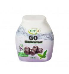 Stevija Stevia limonadesiroop go blackcurrant 40 ml   € 4.68   Superfoodstore.nl