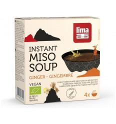 Lima Instant miso soep gember 4 x 15 gram 60 gram | € 4.45 | Superfoodstore.nl
