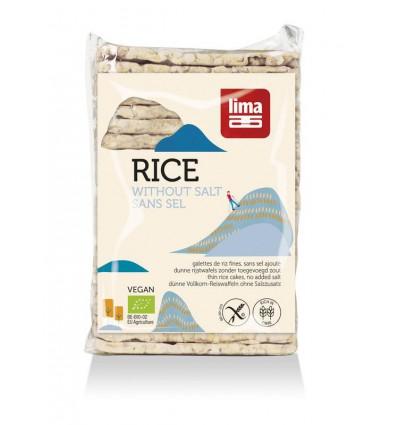 Lima Rijstwafels zonder zout dun recht 130 gram | € 1.38 | Superfoodstore.nl