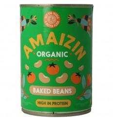 Amaizin Witte bonen in tomatensaus 400 gram | € 1.33 | Superfoodstore.nl