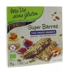 Ma Vie Sans Amandel vijg amarante reep 75 gram | € 2.57 | Superfoodstore.nl
