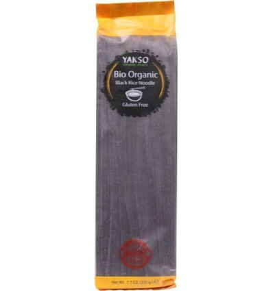 Yakso Rice noodle zwart 220 gram | € 2.84 | Superfoodstore.nl