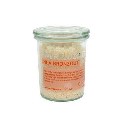 Esspo Wereldzout Inca Bronzout glas 140 gram | € 6.83 | Superfoodstore.nl