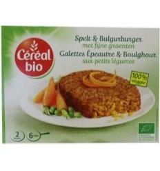 Cereal Spelt & bulgur burger met fijne groenten 200 gram   € 3.15   Superfoodstore.nl