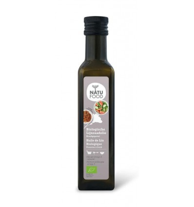 Natufood Lijnzaadolie koud eko 250 ml   € 3.28   Superfoodstore.nl