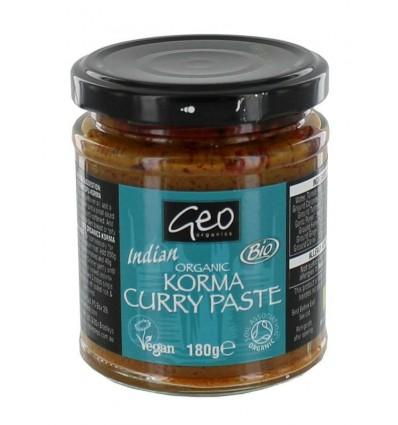Geo Organics Curry paste korma 180 gram | € 3.71 | Superfoodstore.nl