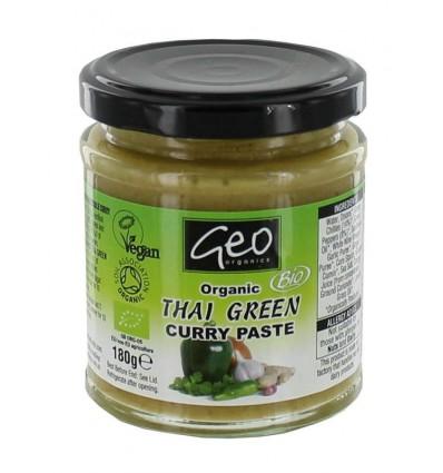 Geo Organics Curry paste thai green 180 gram | € 3.71 | Superfoodstore.nl