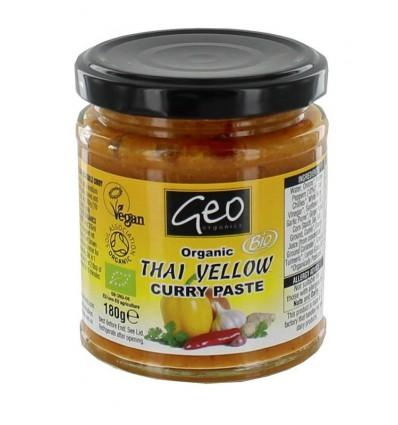 Geo Organics Curry paste thai yellow 180 gram | € 3.71 | Superfoodstore.nl