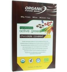 Organic Food Bar Bar active green covered probiotica 68 gram 12 stuks | € 40.90 | Superfoodstore.nl