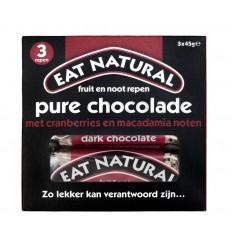 Eat Natural Pure chocolade cranberry macadamia 45 gram 3 stuks | € 3.74 | Superfoodstore.nl