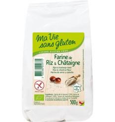 Ma Vie Sans Rijst & kastanjemeel bio - glutenvrij 500 gram   € 5.24   Superfoodstore.nl