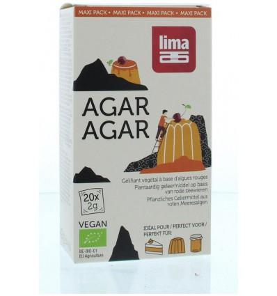 Lima Agar agar maxi pack 2 gram 20 zakjes | € 7.04 | Superfoodstore.nl