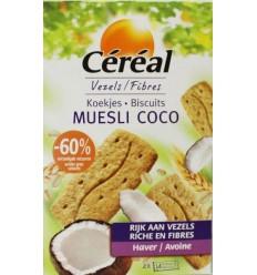Cereal Koekjes muesli/cocos 200 gram   € 3.00   Superfoodstore.nl