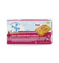 Molenaartje Haver volgranenkoeken cranberry 240 gram | € 3.58 | Superfoodstore.nl