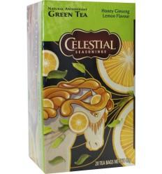 Celestial Season Honey lemon ginseng green tea 20 zakjes | € 2.68 | Superfoodstore.nl