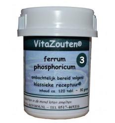 Vitazouten Ferrum phosphoricum VitaZout Nr. 03 120 tabletten   € 6.77   Superfoodstore.nl