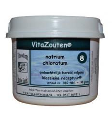 Vitazouten Natrium chloratum/mur. Nr. 08 360 tabletten   € 15.80   Superfoodstore.nl