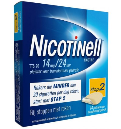 Nicotinell TTS20 14 mg 14 stuks kopen