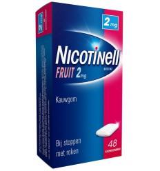 Nicotinell Kauwgom fruit 2 mg 48 stuks | € 13.33 | Superfoodstore.nl
