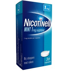 Nicotinell Mint 1 mg 36 zuigtabletten | € 12.32 | Superfoodstore.nl