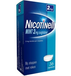 Nicotinell Mint 2 mg 36 zuigtabletten | € 12.32 | Superfoodstore.nl