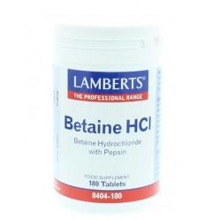 Lamberts Betaine HCI 324 mg / Pepsine 5 mg 180 tabletten | € 21.74 | Superfoodstore.nl