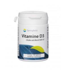 Springfield Vitamine D3 cholecalciferol 600IU 90 tabletten | € 8.56 | Superfoodstore.nl