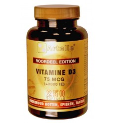 Artelle Vitamine D3 75 mcg 250 capsules | € 17.75 | Superfoodstore.nl